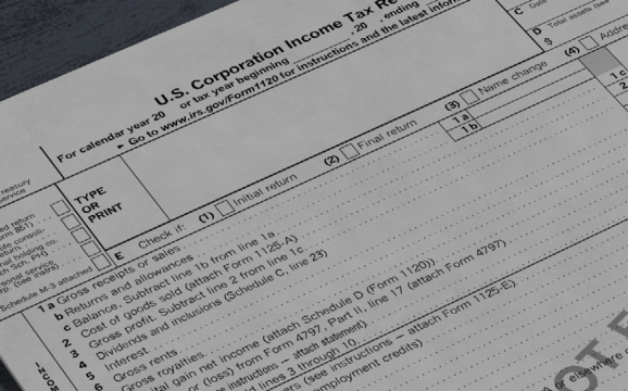 דוח דיווח טופס 1120 C CORP אלון אהרונוף רוח אמריקאי רואה חשבון